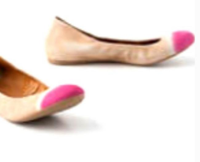 Item - Pink and Tan Watercolor Leifnotes Handpainted Taika Leifnotes Flats Size US 7.5 Regular (M, B)