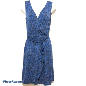 Joe Fresh short dress Blue Sundress Print Tea Length Sleeveless on Tradesy