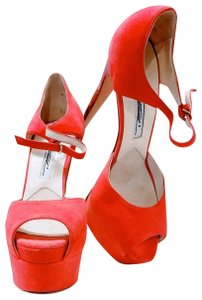 Brian Atwood Red Coral Platforms