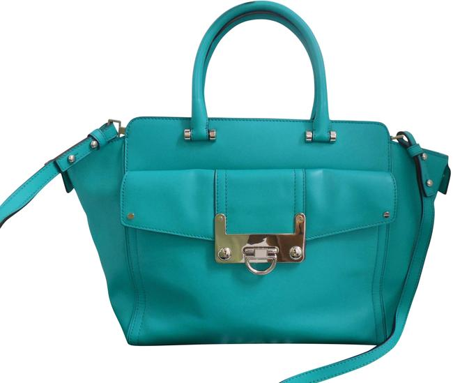 Item - Crossbody X-large Teal Green Leather Tote