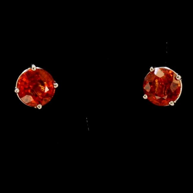 Item - Red 3ct About Rubellite 14k White Gold Earrings