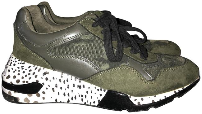 Madden Girl Camo Mixed Sneakers Wedges