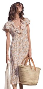 Cream Floral Maxi Dress by Augusta