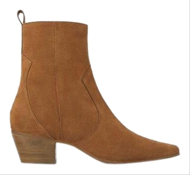Zara Tan Suede Leather Boots/Booties Size US 8 Regular (M, B) Zara Tan Suede Leather Boots/Booties Size US 8 Regular (M, B) Image 1