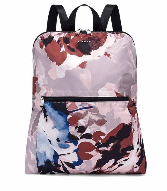 Item - New 2pcs Packable Foldable Lightweight Travel Pouch Blush Floral Nylon Backpack