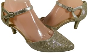 Alex Marie Heel GOLD GLITTER W/SHIMMER ACCENTS Pumps