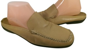 Glacée Casual TAN BROWN W/CREME ACCENTS Mules