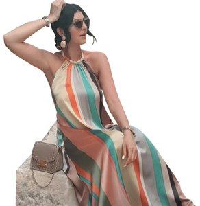 multicolored Maxi Dress by Zara