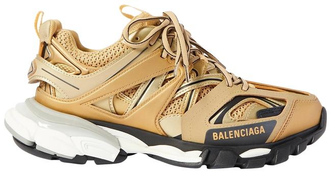 Item - Gold Eu34/35/36/37/38 Track In White and Black Mesh and Nylon Sneakers Size EU 37 (Approx. US 7) Regular (M, B)