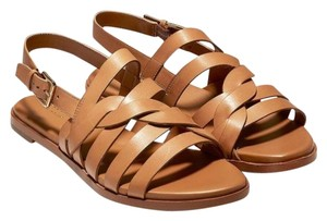 Cole Haan Grandpro Leather Strappy Pecan Brown Sandals