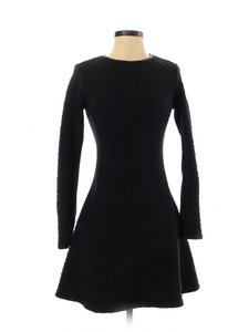 Twenty short dress Black Knit Fit And Flare A-line Textured on Tradesy