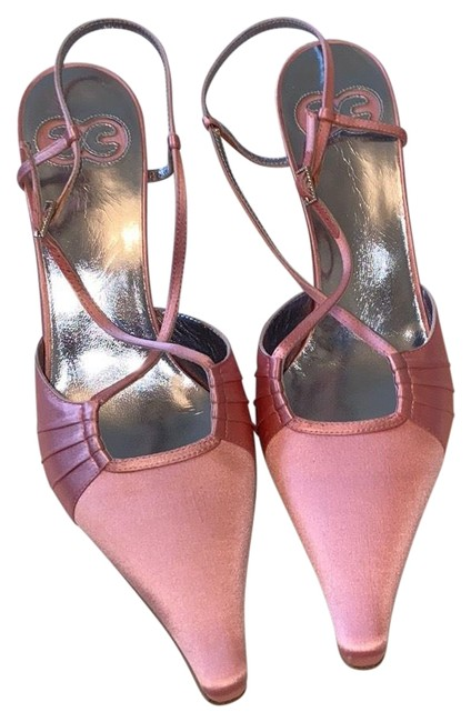Item - Pink Satin Sling Backs Pumps Size EU 37.5 (Approx. US 7.5) Regular (M, B)