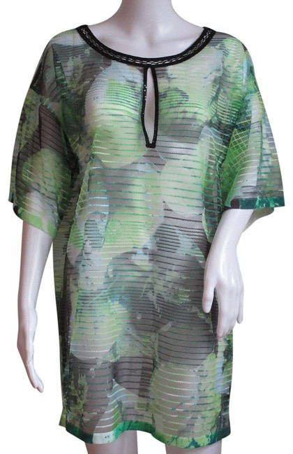 Item - Green Multi Women's Fantasy Sumer Oversized New Tunic Size 10 (M)