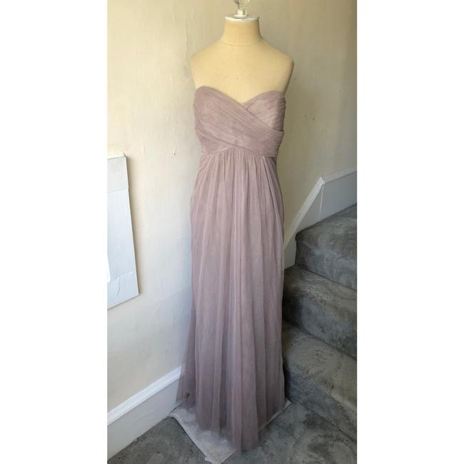 Item - Dark Beige Tulle Jenny Yoo Collection Sweetheart Gown Feminine Bridesmaid/Mob Dress Size 12 (L)