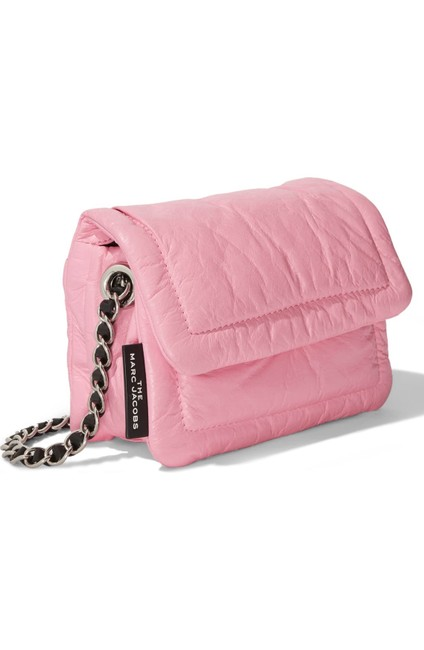 Item - The Mini Pillow Pink/Silver Lambskin Leather Shoulder Bag