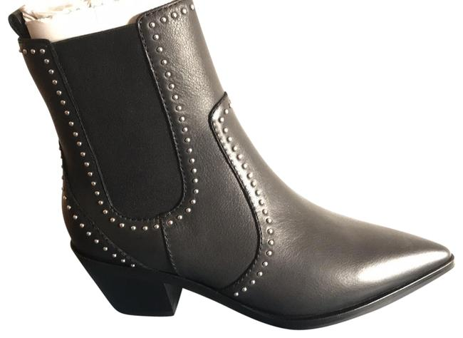 Item - Black with Silver Studs Willa Studded Boots/Booties Size US 7.5 Regular (M, B)