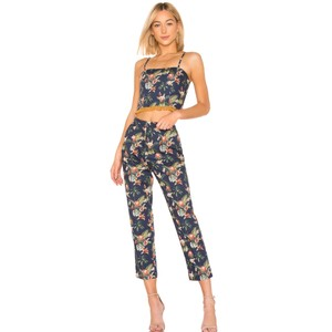 Petersyn Revolve Vacation Palm Tree Summer Floral Straight Pants Multicolor