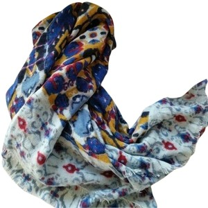 Collection Eighteen COLLECTION EIGHTEEN Multi Colored Abstract Scarf Triangle Over-size