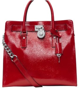 Michael Kors Tote in Red Patent
