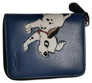 Coach Coach x Disney Medium Zip Around Wallet with Dalmatian 91652 NWT