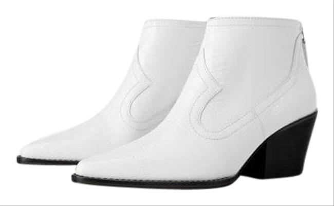 Zara White Leather Boots/Booties Size US 9 Regular (M, B) Zara White Leather Boots/Booties Size US 9 Regular (M, B) Image 1