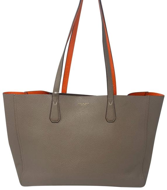 Item - Phoebe Silver Maple/Tangerine Leather Tote