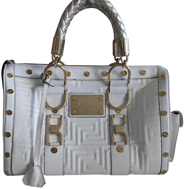 Item - Couture Collection Limited Edition White and Gold Leather Tote