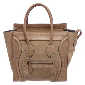 Céline Mini Luggage Luxury Designer Tote in Beige