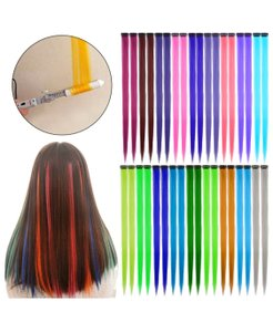 Unwritten colorful hair extensions with clip ins
