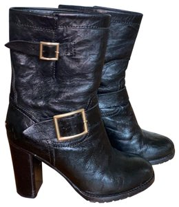 Jimmy Choo Black and Gold Boots