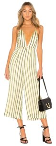 House of Harlow 1960 Striped Cropped Halter Multicolor Dress