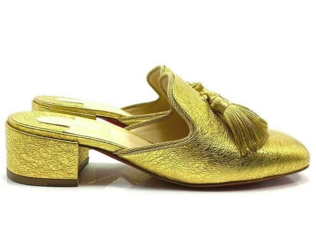 Item - Gold Barry 35 Specchio Slippers Heels Mules/Slides Size EU 37.5 (Approx. US 7.5) Regular (M, B)