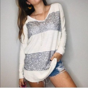 Free People Sequin Oversized Sweater