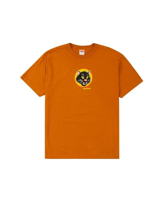 Item - Burnt Orange Black Cat Tee Shirt Size 8 (M)