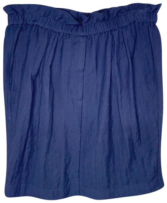 Item - Blue Paper Bag Waist Skirt Size 8 (M, 29, 30)