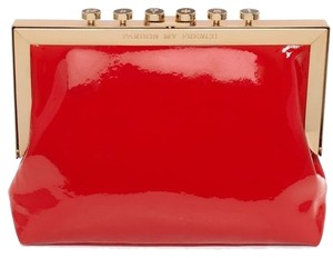 Kate Spade Patent Leather Red & 12K Gold Plate Clutch