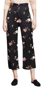 Capulet Floral Ankle Trouser Pants black