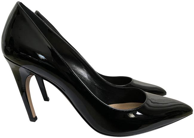 Item - Black Christian D Patent Curved Heel Pointed Pumps Size EU 40 (Approx. US 10) Regular (M, B)