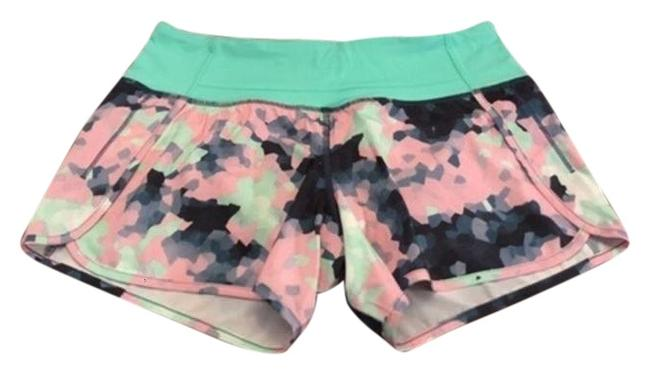 Item - Pink & Green Run Times Shorts Size 4 (S, 27)