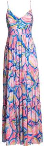 pink, blue, white Maxi Dress by Lilly Pulitzer