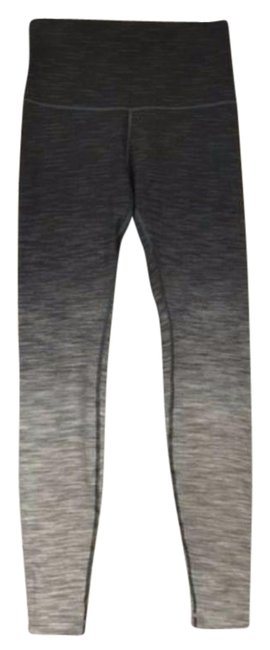 Item - Black & Gray Wunder Under High Rise Tight Pants Size 12 (L, 32, 33)