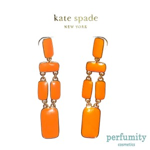 Kate Spade Kate Spade New York Flame Long Chic Earrings Orange NEW AUTHENTIC