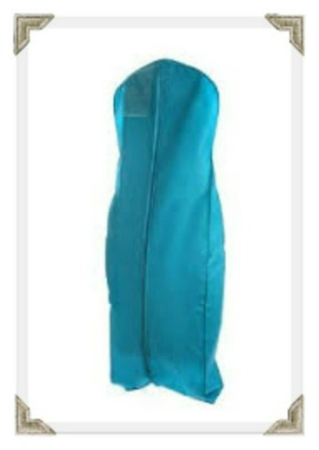 Item - Turquoise Zippered Garment Bag with Gusseted Bottom