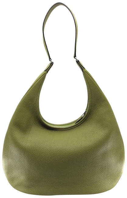 Hermès Shoulder Gao Olive Clemence Leather Hobo Bag Hermès Shoulder Gao Olive Clemence Leather Hobo Bag Image 1