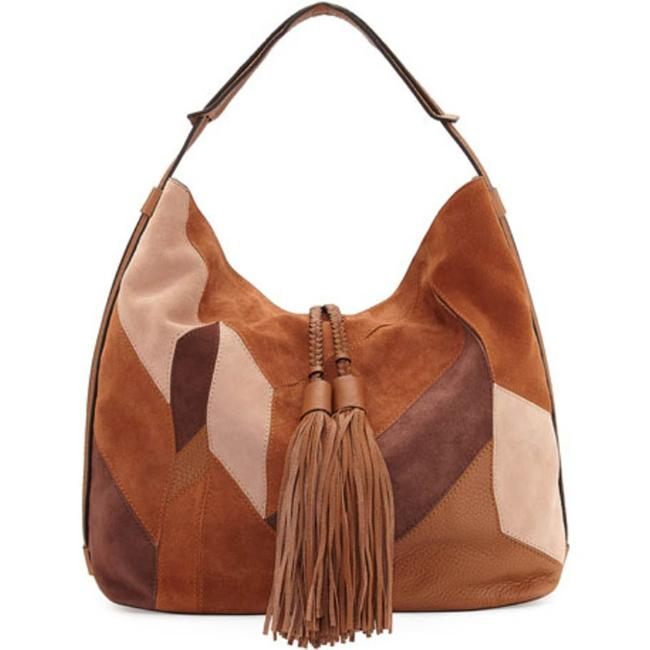 Item - Isobel Mixed-media Patchwork Almond Multi Suede Leather Hobo Bag