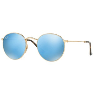 Ray-Ban RAY BAN RB3447N 001/9O GOLD/BLUE AUTHENTIC SUNGLASSES