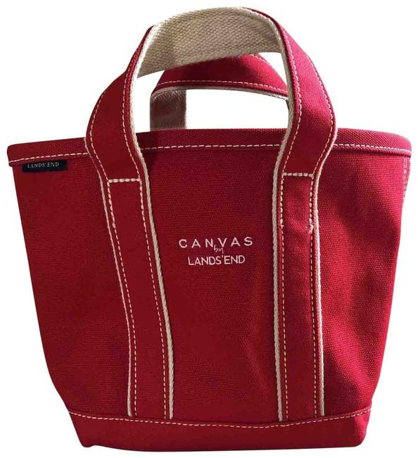 Item - And Beige Preppy Red Canvas Tote