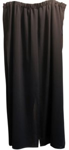 Betsy Lauren Beaded Embellished Embroidered Sequin Wide Leg Pants Black