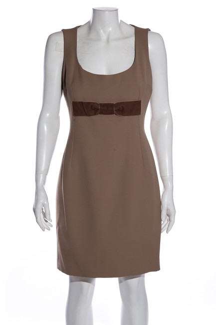 Item - Brown Dolce & Gabbana Tan Short Cocktail Dress Size 10 (M)