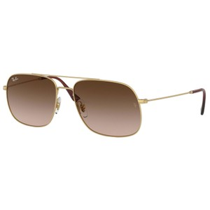 Ray-Ban RAY BAN RB3595 901313 GOLD/BROWN AUTHENTIC SUNGLASSES